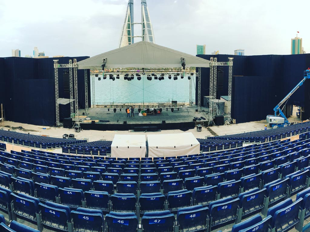 Building Spring of Culture Venue in Bahrain Bay